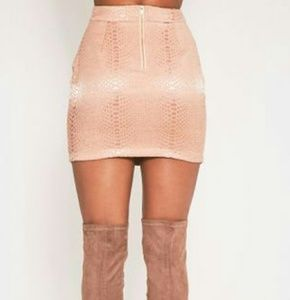 PrettyLittleThing Skirts - Dusty Pink Blush Snake Jacquard Mini Skirt US 6